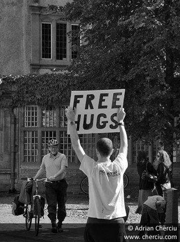 Free Hugs in Cambridge